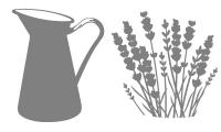 Samolepka v balení -Váza