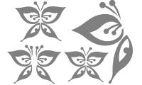 Samolepka v balení -Motýlí letka