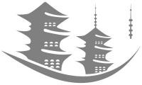 Samolepka v balení -Japonské pagody