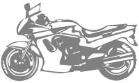Samolepka v balení -Motorka