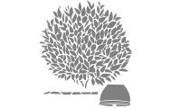 Samolepka v balení -Strom v květináči