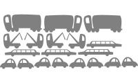 Samolepka v balení -Dopravní zácpa