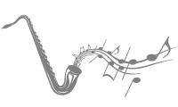 Samolepka v balení -Saxofon