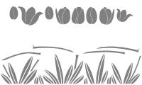 Samolepka v balení -Tulipány