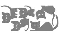 Samolepka v balení -Koťátka