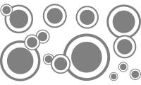 Samolepka v balení -Kruhy