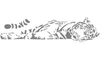 Samolepka v balení -Ležící tygr
