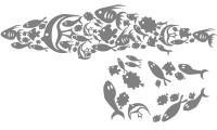 Samolepka v balení -Žraločí formace