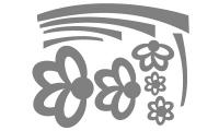 Samolepka v balení -Nadčasové kytičky