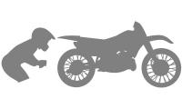 Samolepka v balení -Crosová motorka