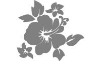 Samolepka v balení -Květ ibišku