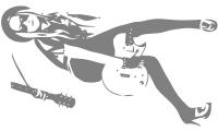 Samolepka v balení -Rockerka