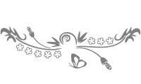 Samolepka v balení -Motýl vkvětech