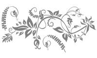 Samolepka v balení -Květinová fantazie