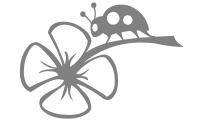 Samolepka v balení -Beruška na květu