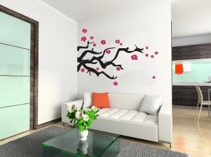 Japonská třešeň samolepka na zeď
