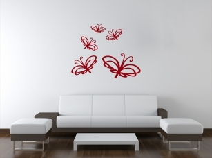 Motýlci samolepka na zeď