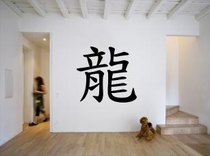Čínské znamení zvěrokruhu - drak samolepka na zeď
