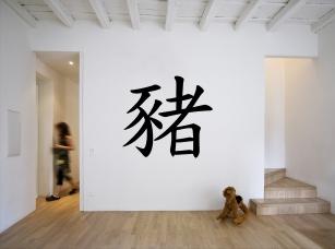 Čínské znamení zvěrokruhu - vepř samolepka na zeď