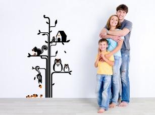 Zvířecí strom samolepka na zeď