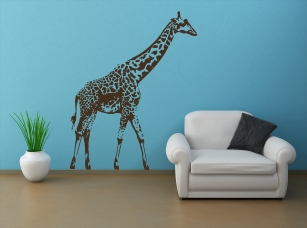 Žirafa masajská samolepka na zeď