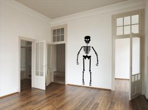 Kostlivec samolepka na zeď