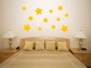 Hvězdy samolepka na zeď