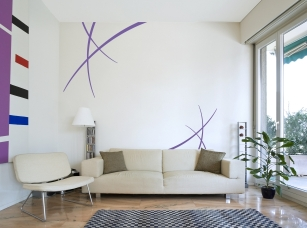 Dekorační tahy samolepka na zeď