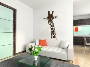 Žirafí hlava samolepka na zeď