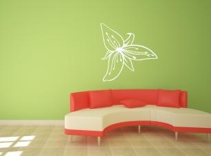 Liliový květ samolepka na zeď