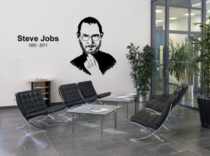 Steve Jobs jako samolepka na zeď - super pro všechny fanoušky!