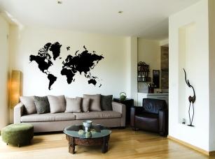 Mapa světa pro cestovatele samolepka na zeď