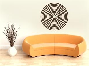 Labyrint samolepka na zeď