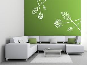 Dekorační listí samolepka na zeď