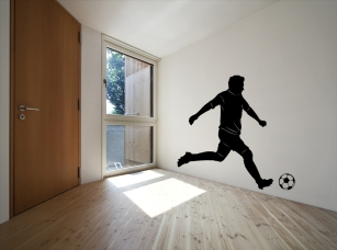 Fotbalista samolepka na zeď