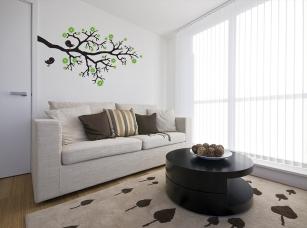Jabloňová větvička samolepka na zeď