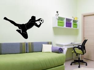 Brankář samolepka na zeď