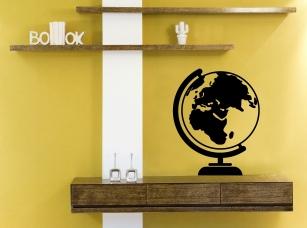 Globus samolepka na zeď