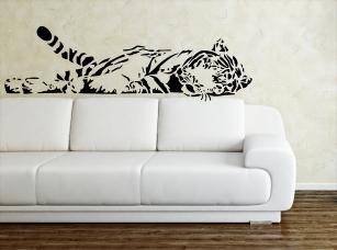 Ležící tygr samolepka na zeď