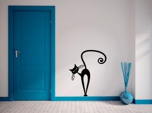 Kocour v botách samolepka na zeď