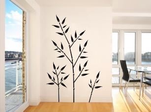 Bambusové větvičky samolepka na zeď