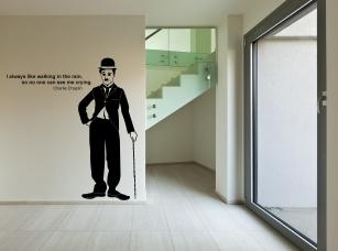 Charlie Chaplin samolepka na zeď