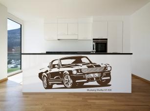 Mustang Shelby GT-500 samolepka na zeď