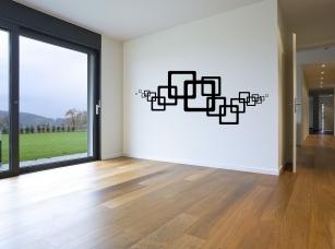 Čtverce samolepka na zeď