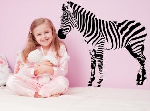 Zebra 2 samolepka na zeď