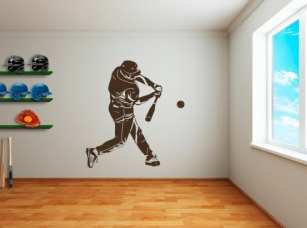 Baseball samolepka na zeď