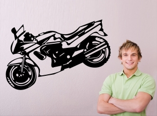 Motorka samolepka na zeď