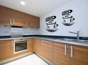 Kávové hrníčky samolepka na zeď
