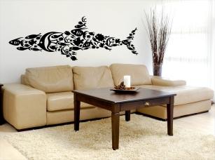 Žraločí formace samolepka na zeď
