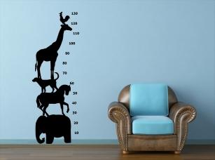 Zvířátkový metr samolepka na zeď